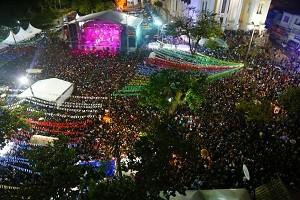 Público compareceu em peso para o show da dupla Jorge e Mateus, no Ilheus Forró. Foto Alfredo Filho Secom Ilheus.