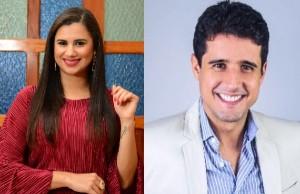 Escritores Juliana Soledade e Rodrigo Muniz.